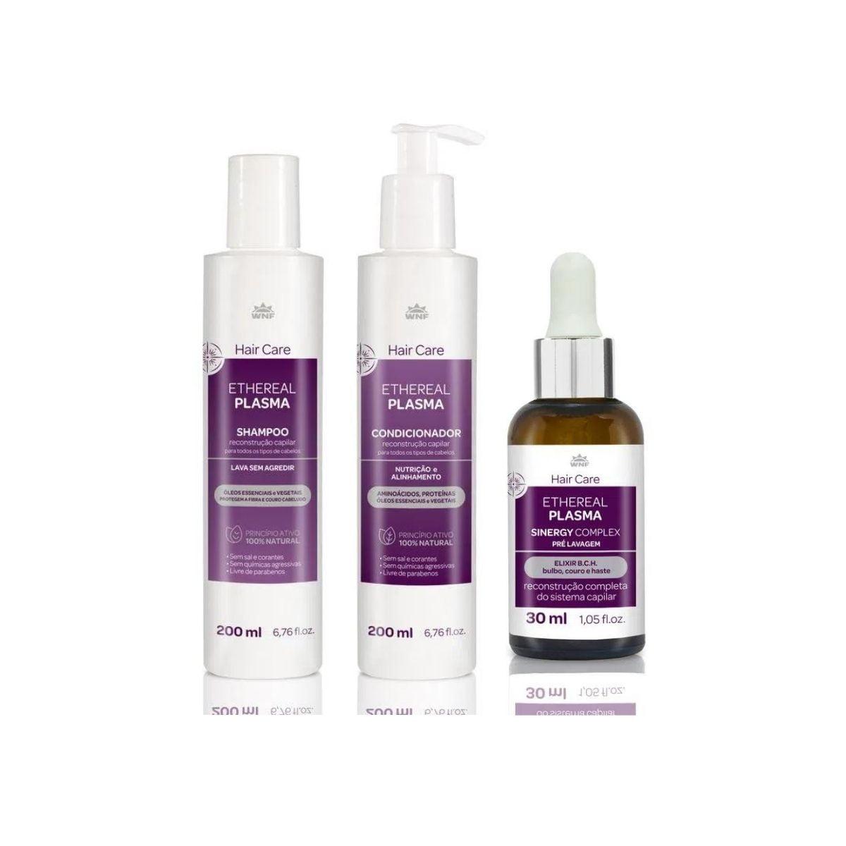 Kit Ethereal Plasma – shampoo, condicionador e Sinergy Complex