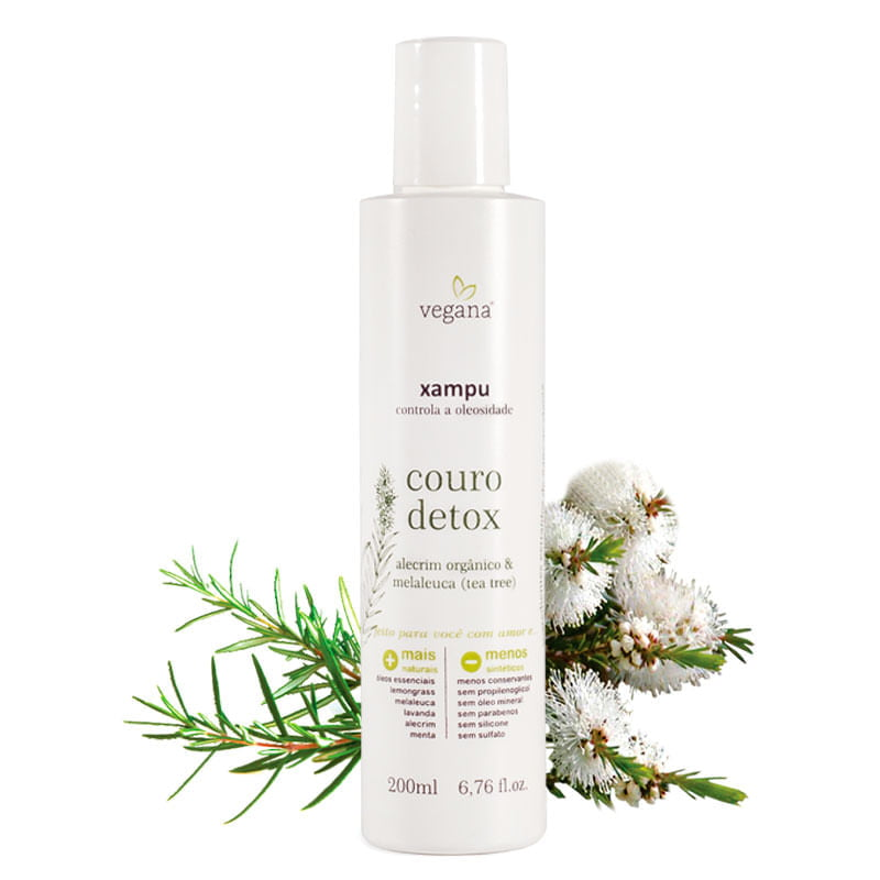 Vegana Xampu Couro Detox - 200ml